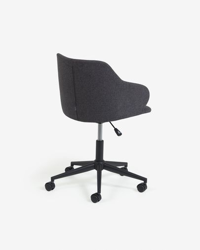 Chaise de bureau Einara gris foncé