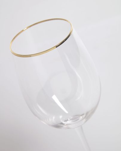 Rasine transparent wine glass with gold detail 50 cl