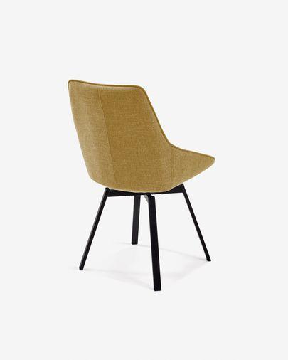 Jenna mustard yellow swivel chair