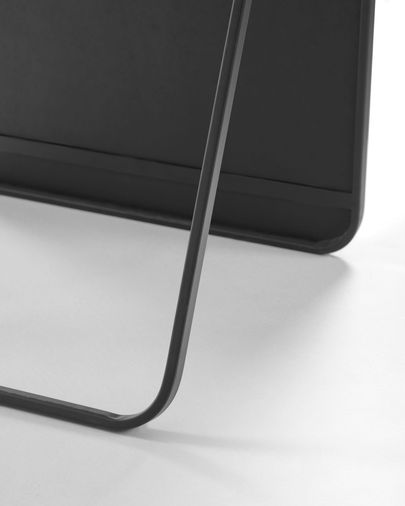 Miroir sur pied Nyah métal noir 63,5 x 165 cm