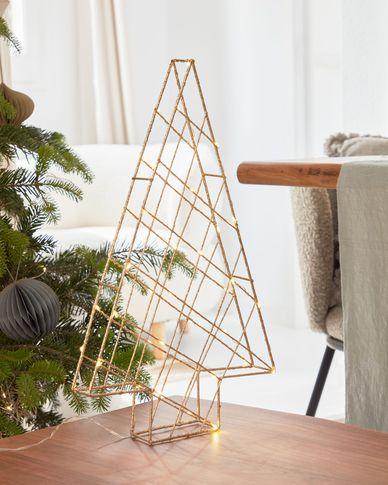 Lichtgevende kerstboom Phytia goud