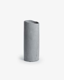 Nille cement vase dark grey
