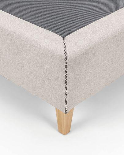 Bed base high Nikos 90 x 190 cm beige