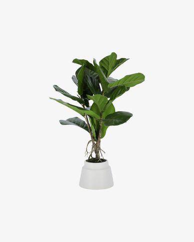 Planta artificial Lyrata con maceta de cerámica blanco 60 cm