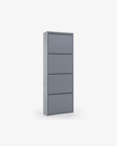 Regał na buty Ode 50 x 136 cm 4 drzwi szary| Kave Home