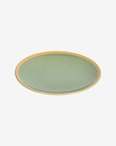 Assiette plate Tilia en céramique vert clair
