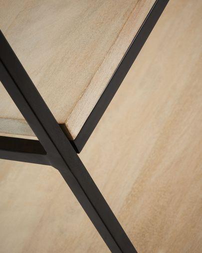 Estante Push 100 x 180 cm madeira maciça de mangueira e aço preto