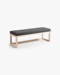 Graphite Loya bench 128 cm