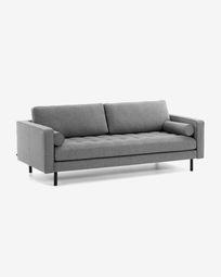 Sofà Debra 2 places gris fosc 182 cm