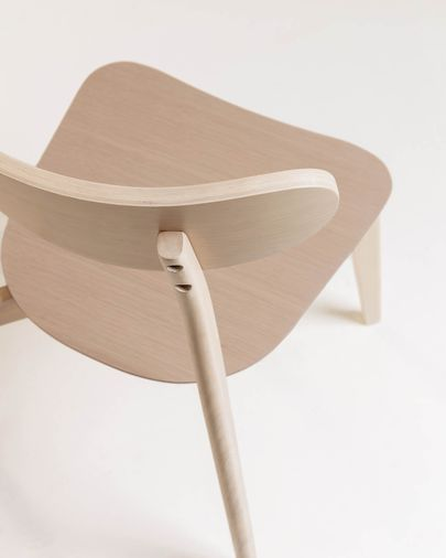 Silla Safina chapa de roble y madera maciza de caucho