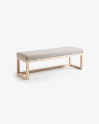 Beige Loya bench 128 cm