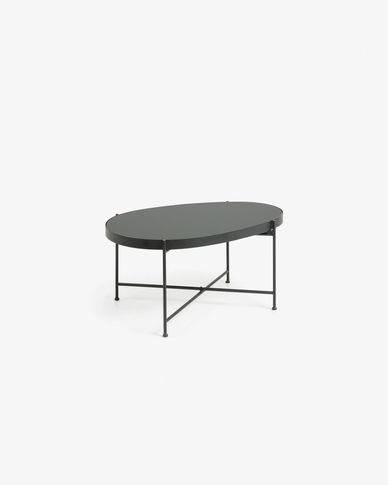 Tavolino Marlet nero 82 x 55 cm
