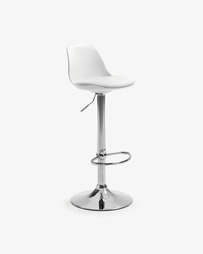 Tamboret Orlando-T blanc altura 60-82 cm