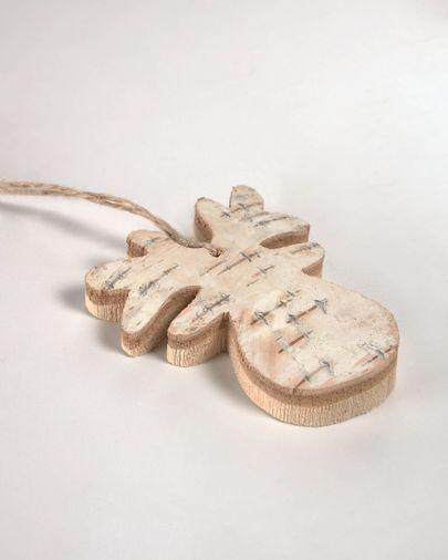 Set Alira de 6 penjolls decoratius de ren fusta massissa bedoll