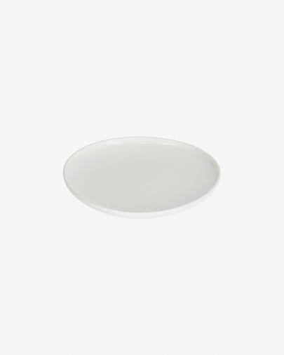 Assiette à dessert Pahi ronde porcelaine blanc