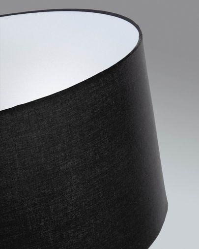 Lampadaire Ikia en métal peint noir