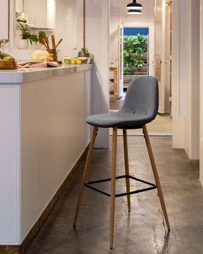 Dark grey Nolite stool height 65 cm