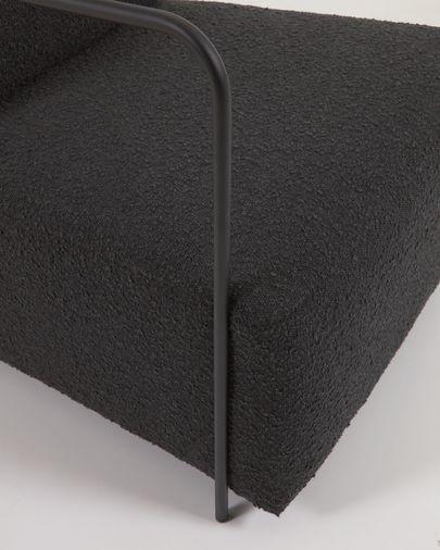 Butaca Gamer de borrego negro y metal con acabado pintado negro