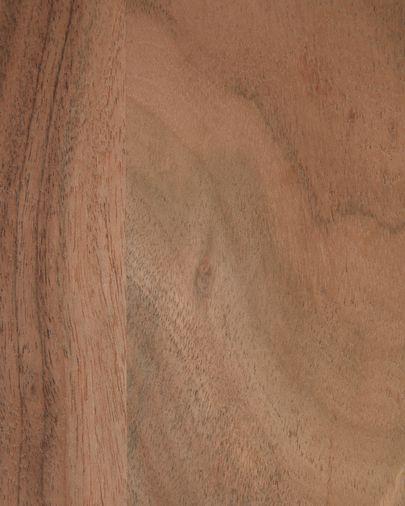 Tabla de servir alargada Romina en forma de heptágono de madera maciza de acacia