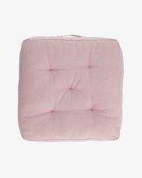 Sarit 100% katoen roze vloerkussen 60 x 60 cm