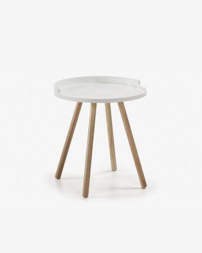 Tavolino Kurb Ø 46 cm bianco