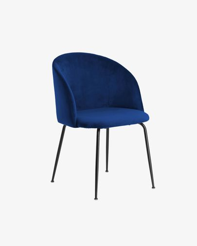 Silla Laudelina terciopelo azul