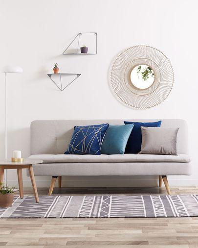 Lita Kissenbezug 45 x 45 cm, blauer Samt