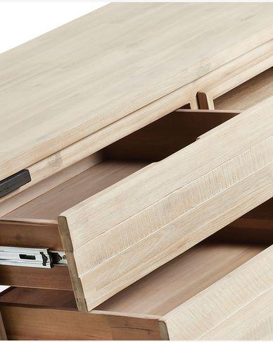 Mueble TV Thinh 165 x 53 cm de madera maciza de acacia