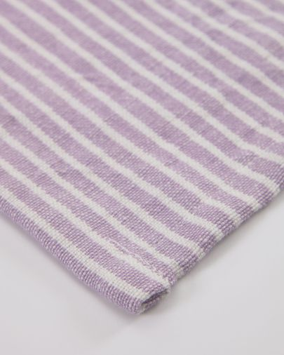 Imalay cotton and linen tablecloth in lilac 170 x 250 cm