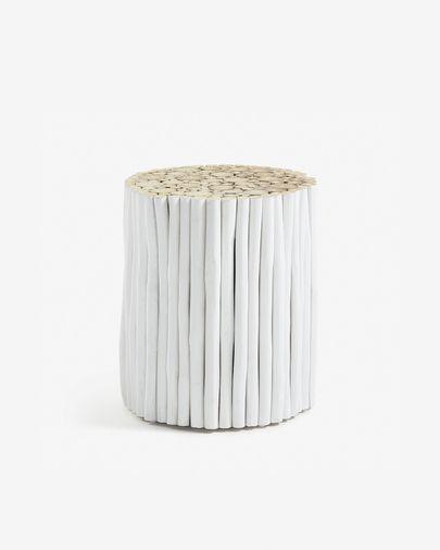 White Filip side table Ø 35 cm