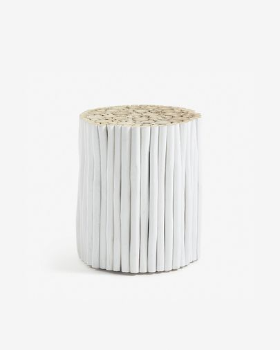 Taula auxiliar Filip Ø 35 cm blanc