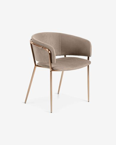 Fauteuil Runnie taupe