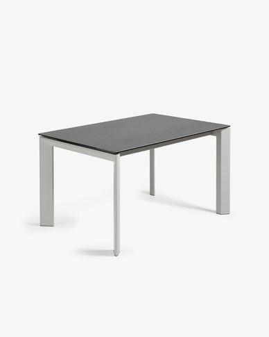 Tavolo allungabile Axis 140 (200) cm porcellanato finitura Vulcano Roca gambe grigio