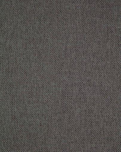 Silla Rosie gris oscuro con patas de madera acabado oscuro