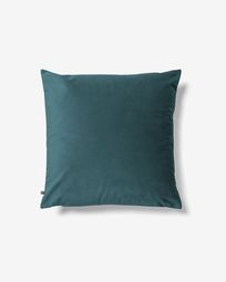 Lita cushion cover 45 x 45 cm turquoise velvet