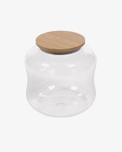 Large Cirene transparent glass jar
