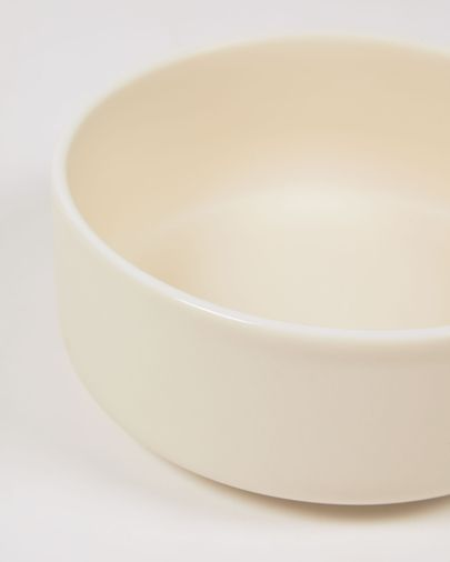 Bol grande Roperta de porcelana beige