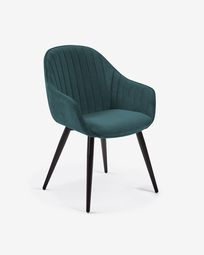 Turquoise velvet Fabia chair