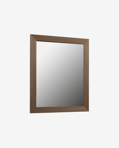 Nerina mirror walnut finish 47 x 57,5 cm