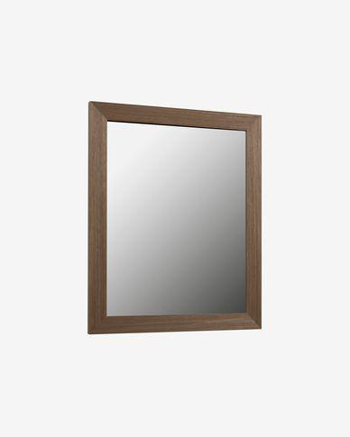 Specchio Nerina con cornice 47 x 57,5 cm con finitura noce