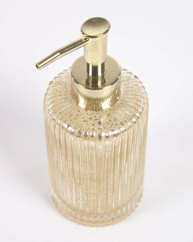 Christell gold glass soap dispenser