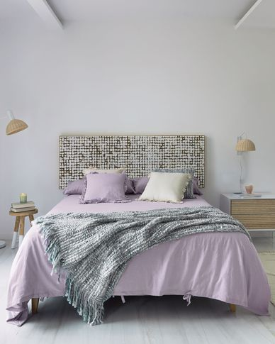 Persis grey and white blanket 125 x 150 cm