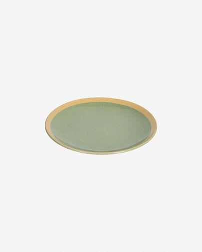 Tilla ceramic dessert plate in light green