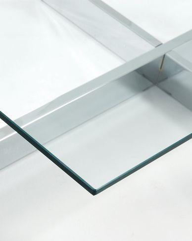 Transparent grass Plam coffee table 120 x 70 cm