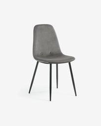 Chair Yaren grey fabric