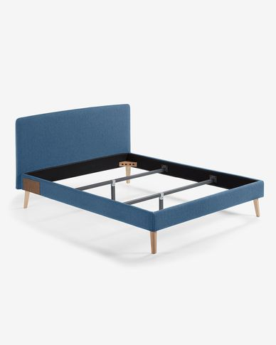 Dyla bed 150 x 190 cm dark blue