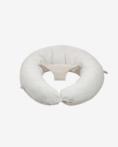 Madinna nursing pillow 100% organic cotton (GOTS) with pink dots