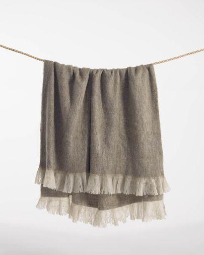 Manta Bihuma marrón 125 x 150 cm