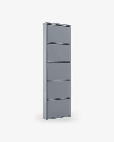 Zapatero Ode 50 x 168,5 cm 5 portes gris