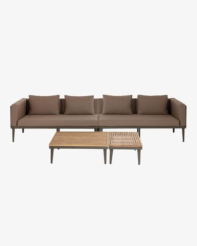 Pascale sofa, coffee table and side table set FSC 100%
